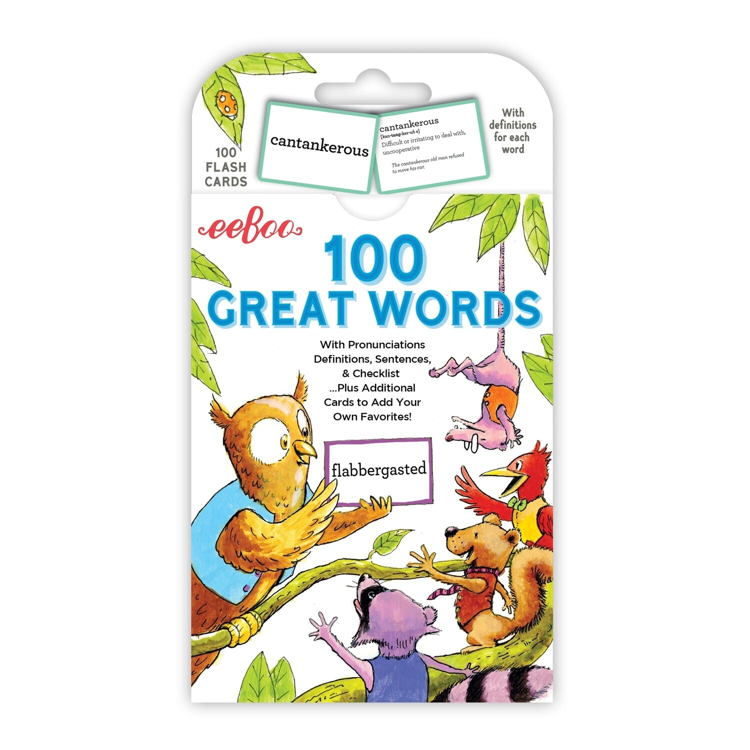 eeBoo Cards-100 Great Words