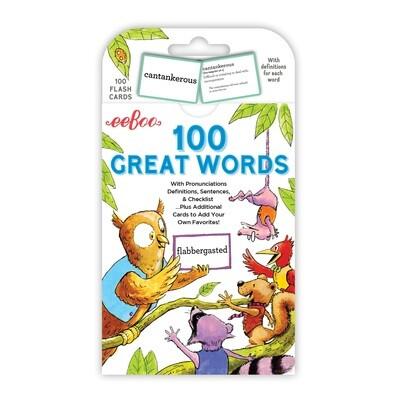 eeBoo Cards-100 Great Words