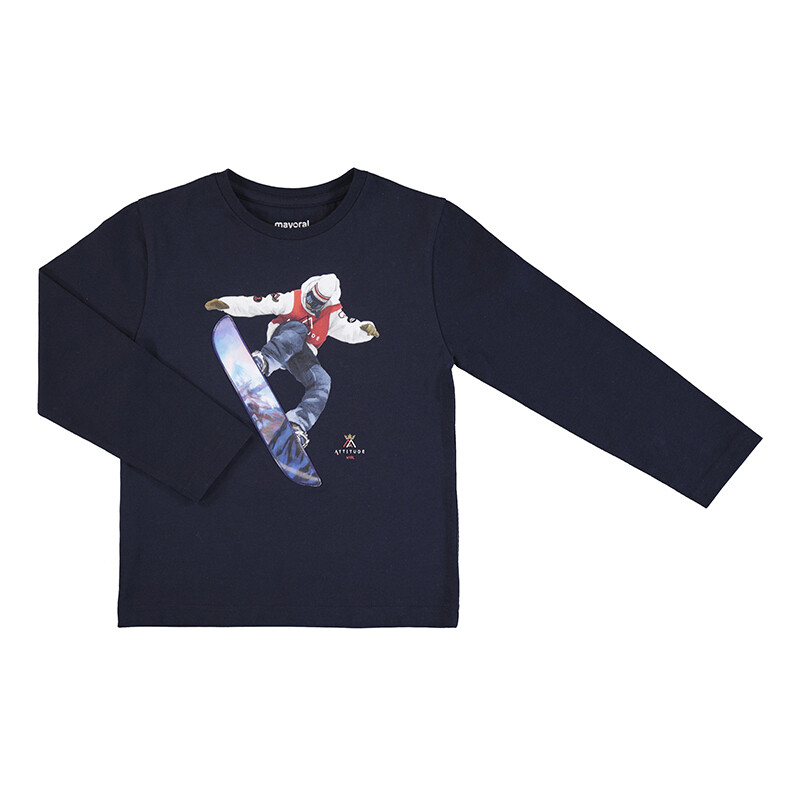 Mayoral L/S Navy T-Shirt 4039