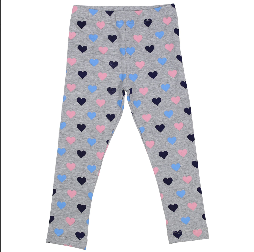 Korango Hearts Print Leggings A1526G