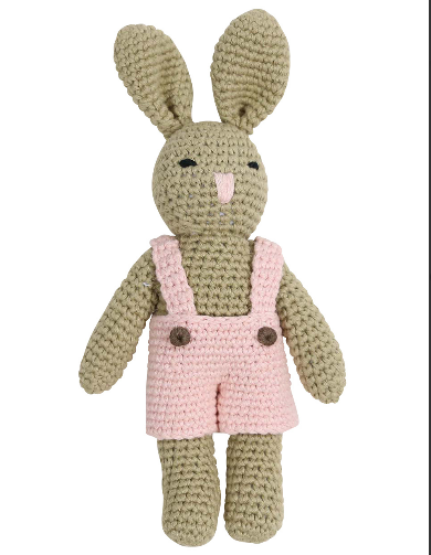 Korango Pink  Bunny Hand Crocheted Toy B1134P