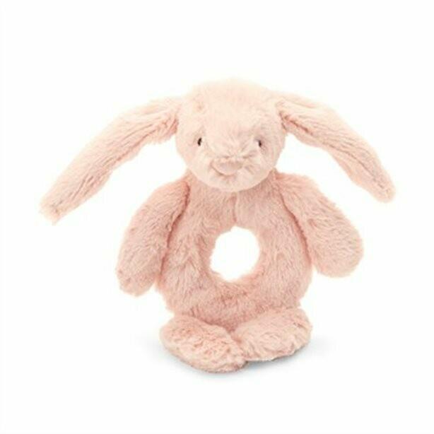 Jellycat Bashful Blush Bunny Ring Rattle