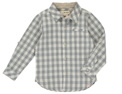 Me & Henry Grey/White Plaid Shirt HB560k