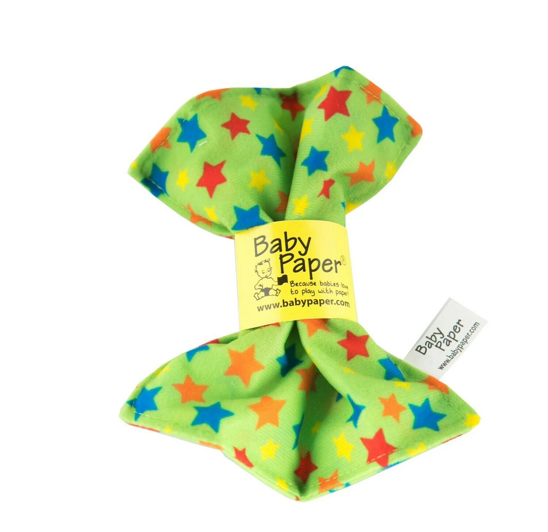 Green Stars Baby Paper
