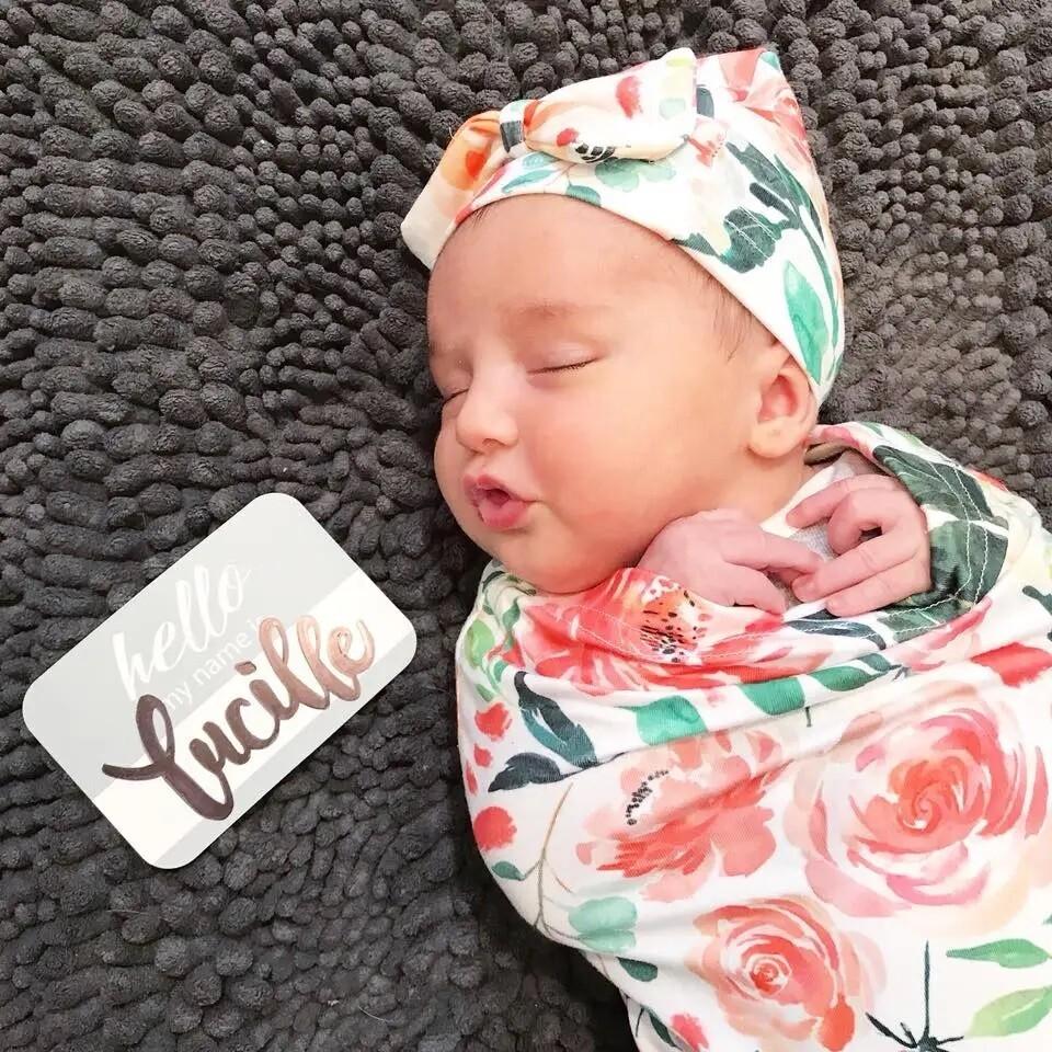 Itzy Ritzy Cutie Cocoon & Hat Set (Peach Floral