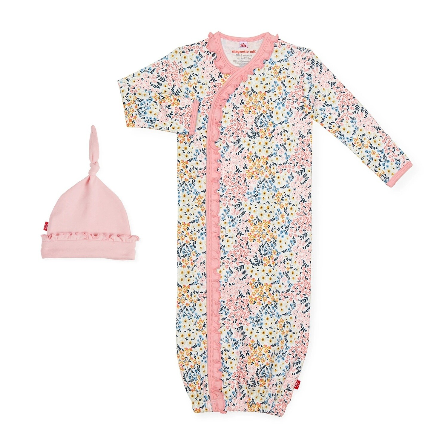 Magnetic Me Chelsea Organic Cotton Gown & Hat 1418