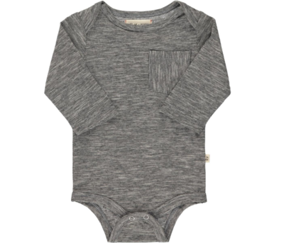 Me & Henry Micro Stripe Onesie (charcoal HB500a