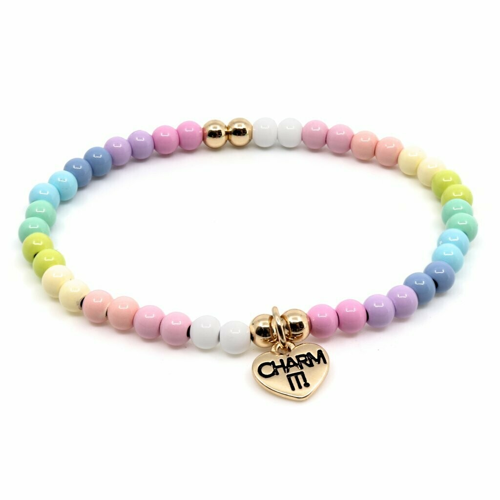 Charm It Pastel Stretch Bead Bracelet CIBB106