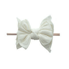 Baby Bling Fab-BOW-lous Ivory (skinny blush band