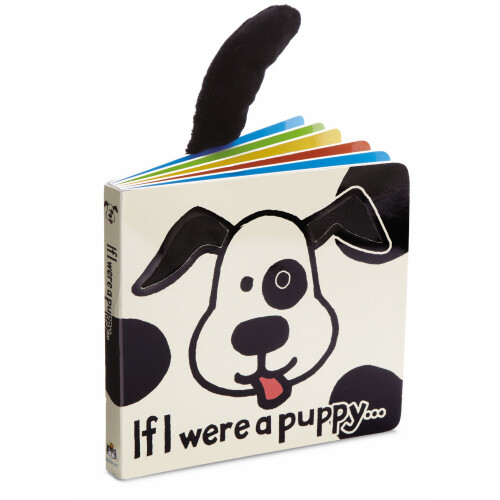 If I Were A Puppy Book (blk & crm) Jellycat