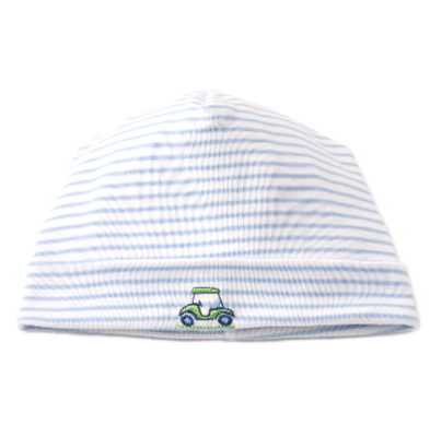 Kissy Kissy Double Bogey Stripe Hat 4408N