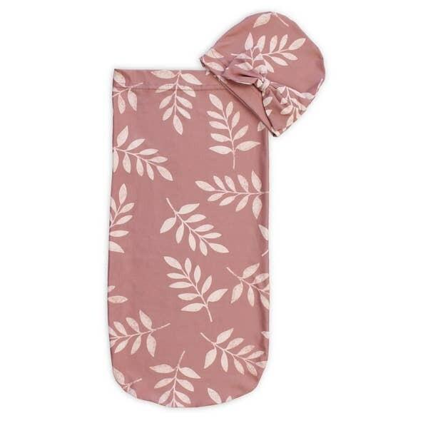 Itzy Ritzy Cutie Cocoon & Hat Set (Dust Leaf