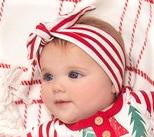 Tesa Babe Red Thin Striped Headband 59BI