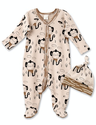 Tesa Babe Funky Monkey Footed Romper & Hat RC87