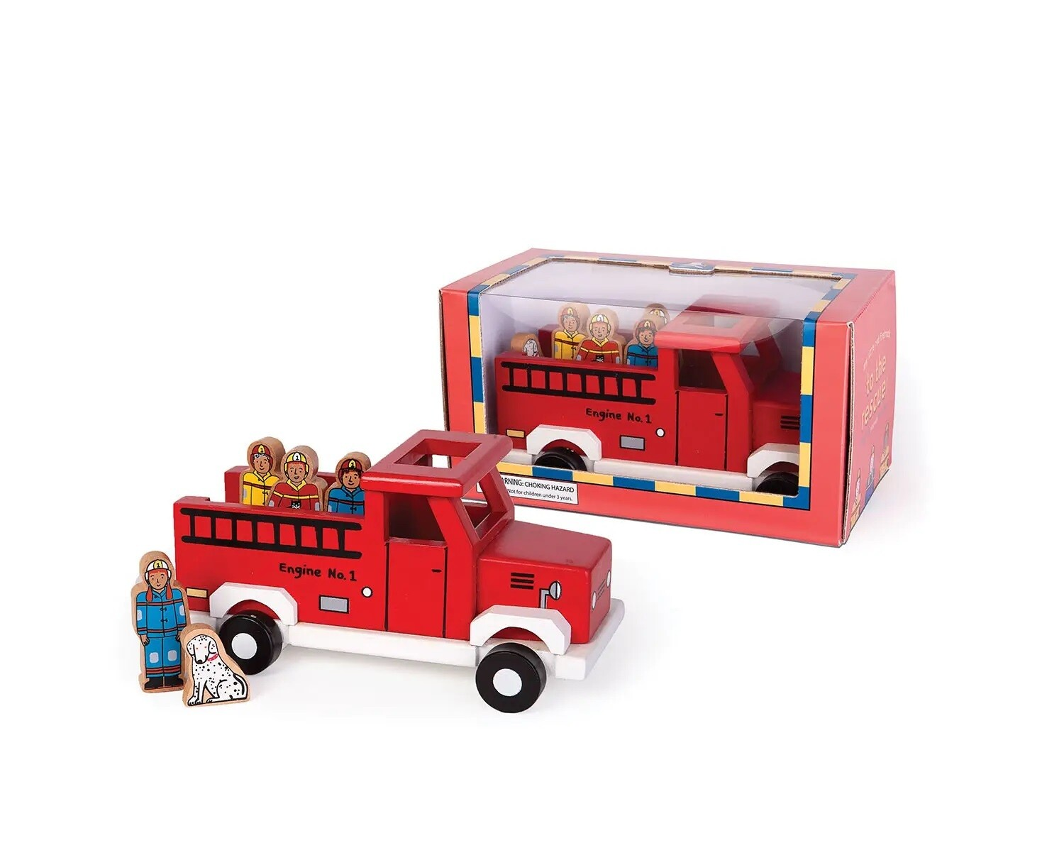 Jack Rabbit- To the Rescue Magnetic Fire Truck