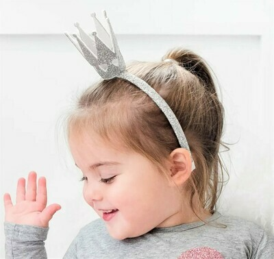 Sweet Wink Silver Crown Headband