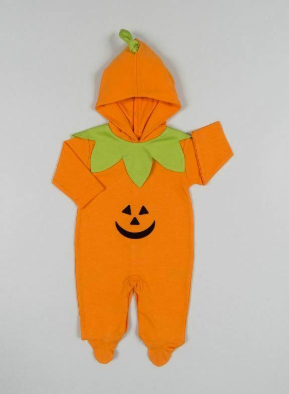 Kissy Kissy Pumpkin Footie W/Hood
