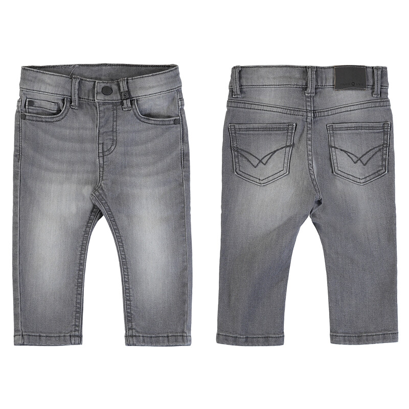 Mayoral Basic Slim Fit Jeans (Gray 510