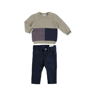 Mayoral Navy Knit Pants Set 2587
