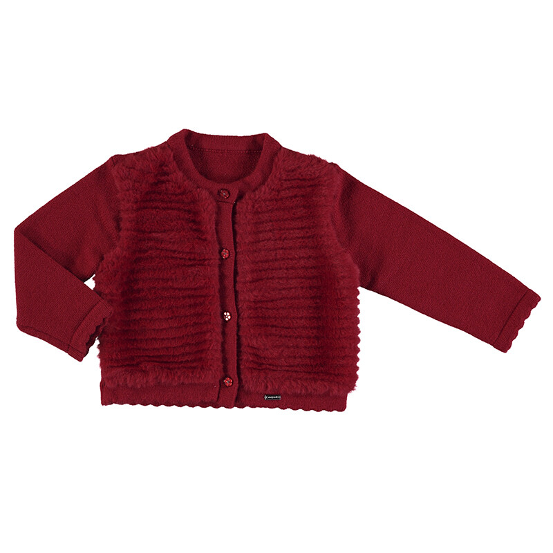 Mayoral Carmine Red Tricot Cardigan 2359