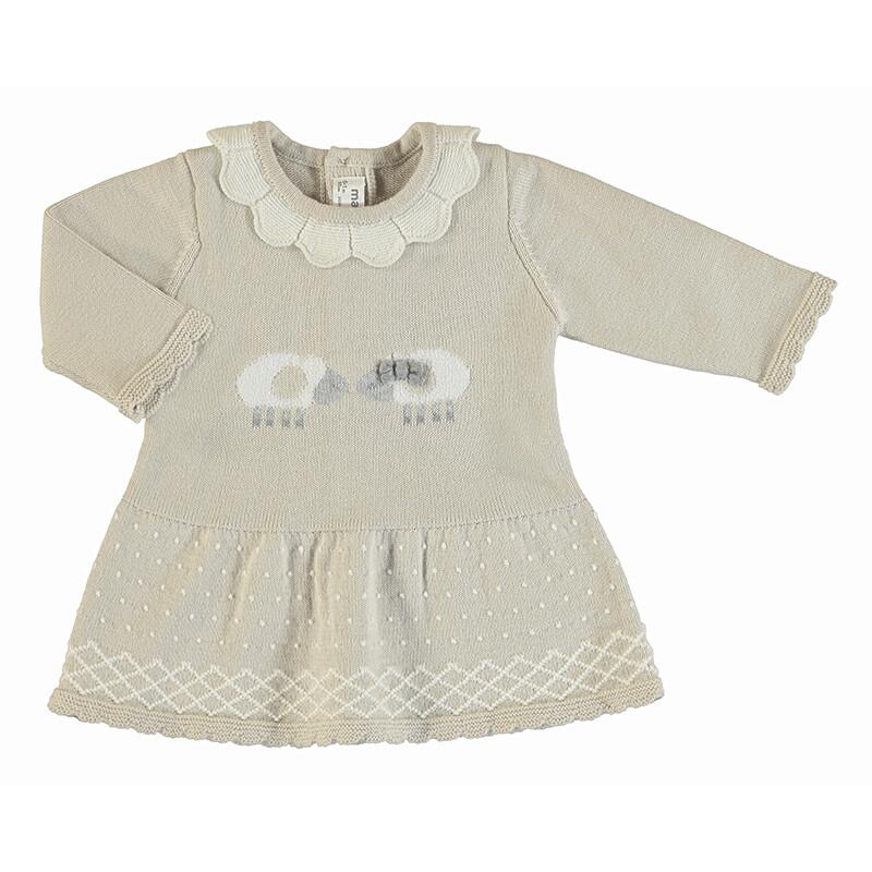 Mayoral Beige Knit Dress 2855