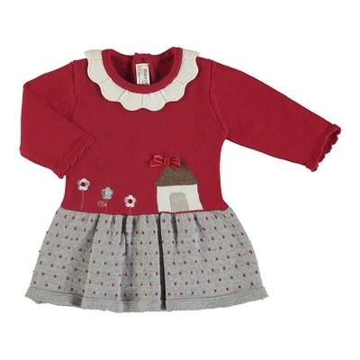 Mayoral Knit Dress (color Red 2855