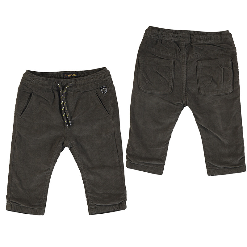 Mayoral Chocolate Microcord Lined Trousers 2576