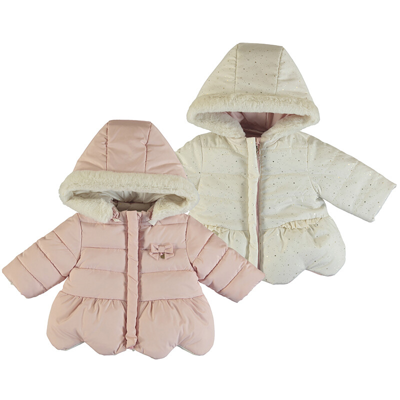 Mayoral Blush Reversible Coat 2460
