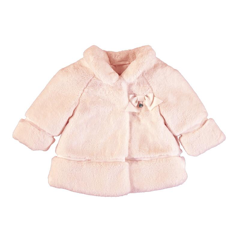 Mayoral Baby Rose Velvet Coat 2465
