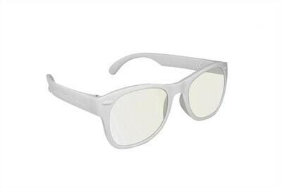 Roshambo Adult WHITE S/M Glasses Screen Blue Blocker AVN