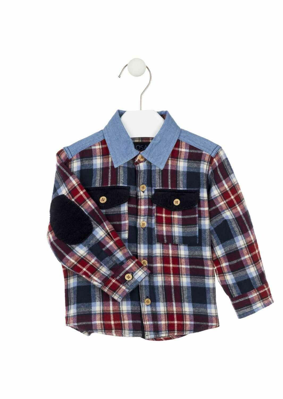 Losan L/S Shirt & Navy Cord Pant Set 3000