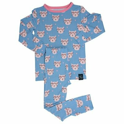 Sweet Bamboo Hippie Kitty L/S PJ's