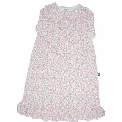 Sweet Bamboo Flower Pink Boho Dress