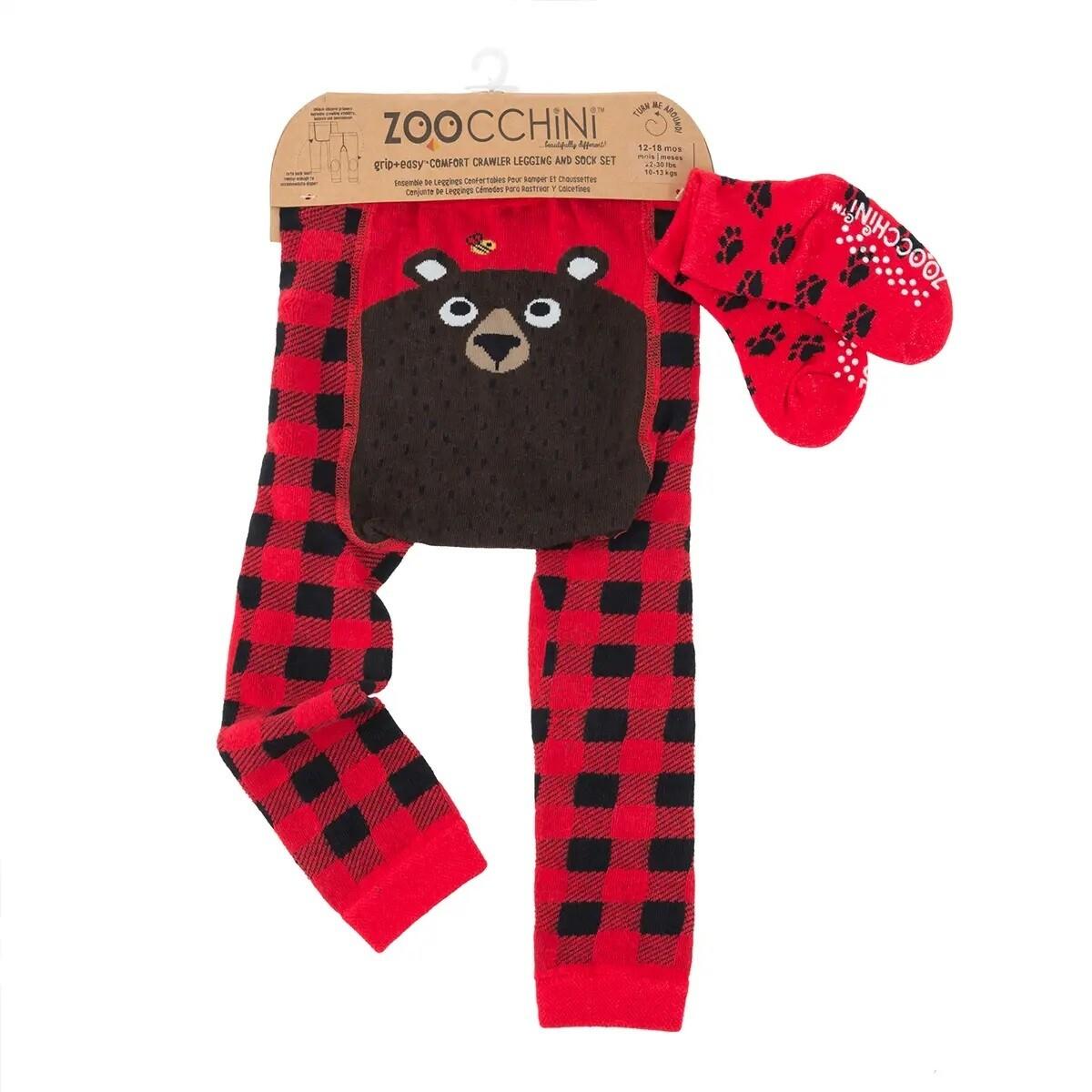 ZooCChini Bosley the Bear Legging & Sock Set