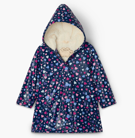 Hatley Confetti Heart Color Changing Splash Jacket