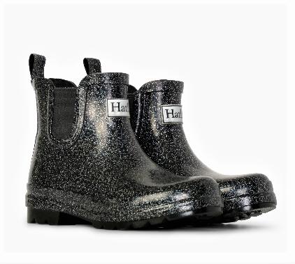 Hatley Starry Night Glitter Ankle Rain Booties