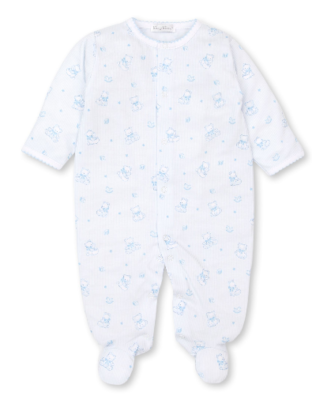 Kissy Kissy Preemie Lt Blue Bearly Believable Footie 5228N