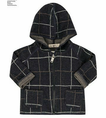 EMC Zipped Milano Stretch Jacquard Jacket 1555