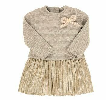 EMC Knitt Velour Pleated Fabric Dress 4566