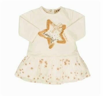 EMC Fleece Printed Glitter Tullle Dress 4557