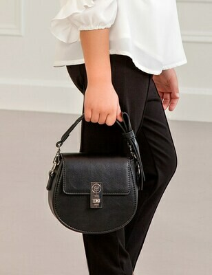 Abel & Lula Leatherette BLACK Bag 5934
