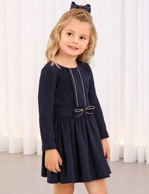 Abel & Lula Navy Knitted Dress 5561