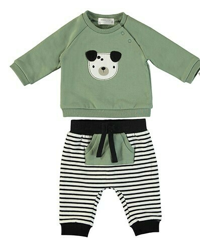 Mayoral Olive 2pc Set (stripe pant) 2639