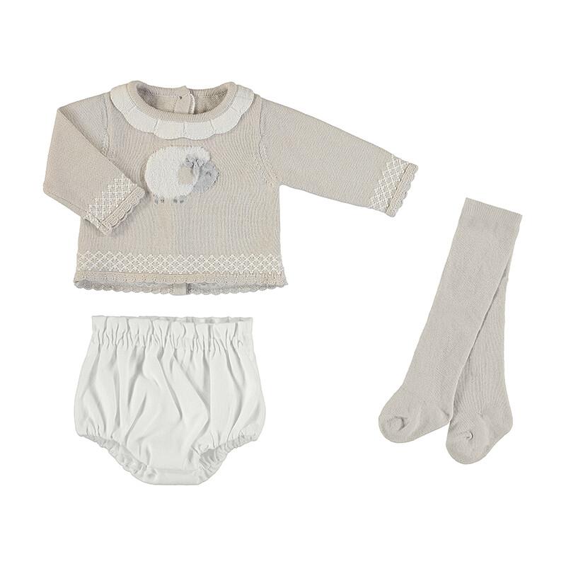 Mayoral Sweater Set Beige 2212
