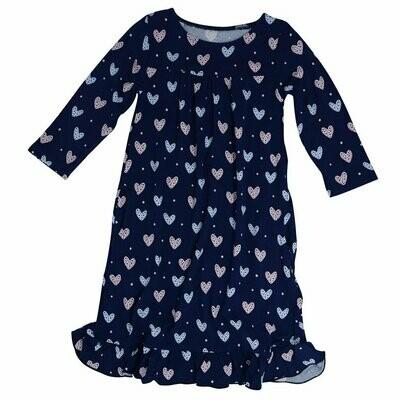 Sweet Bamboo Blue Hearts Boho Dress