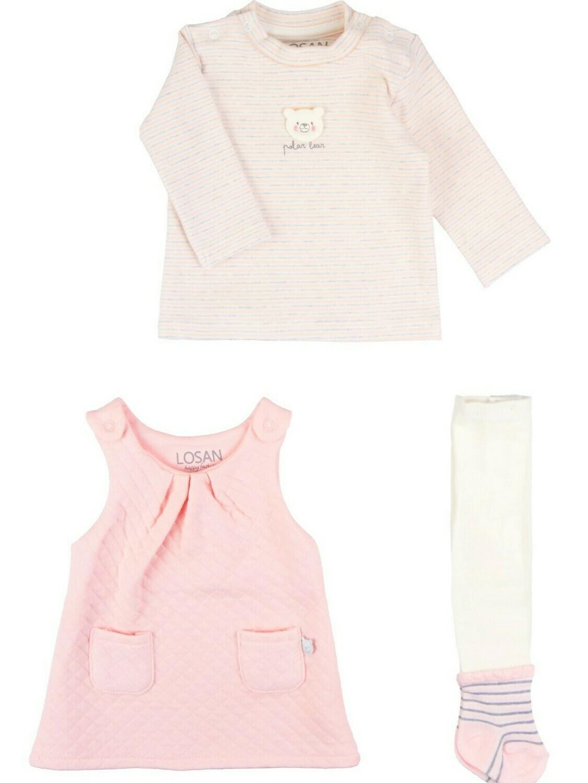 Losan Dress Set Pastel Pink 8010