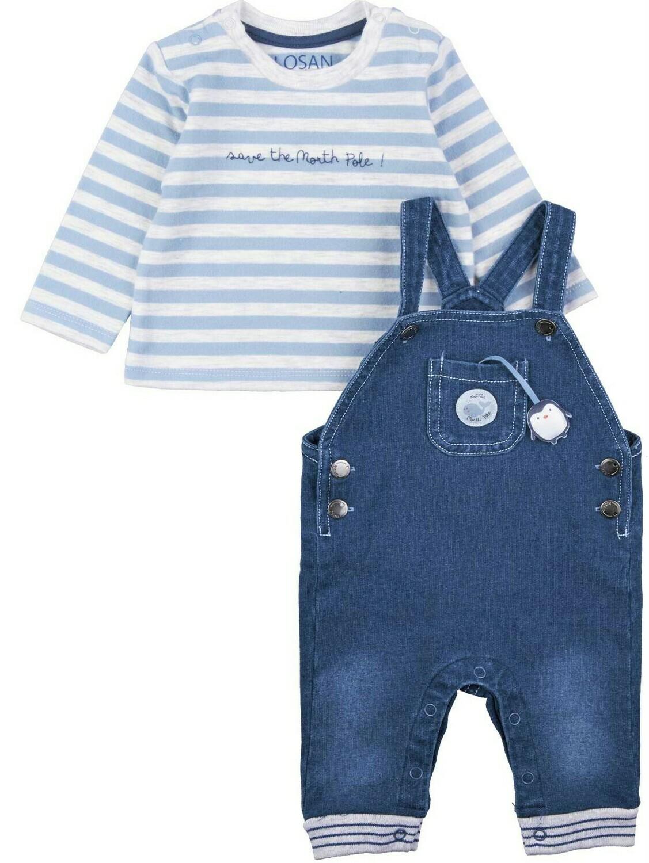 Losan T-Shirt & Overall Set Lt Blue 8002
