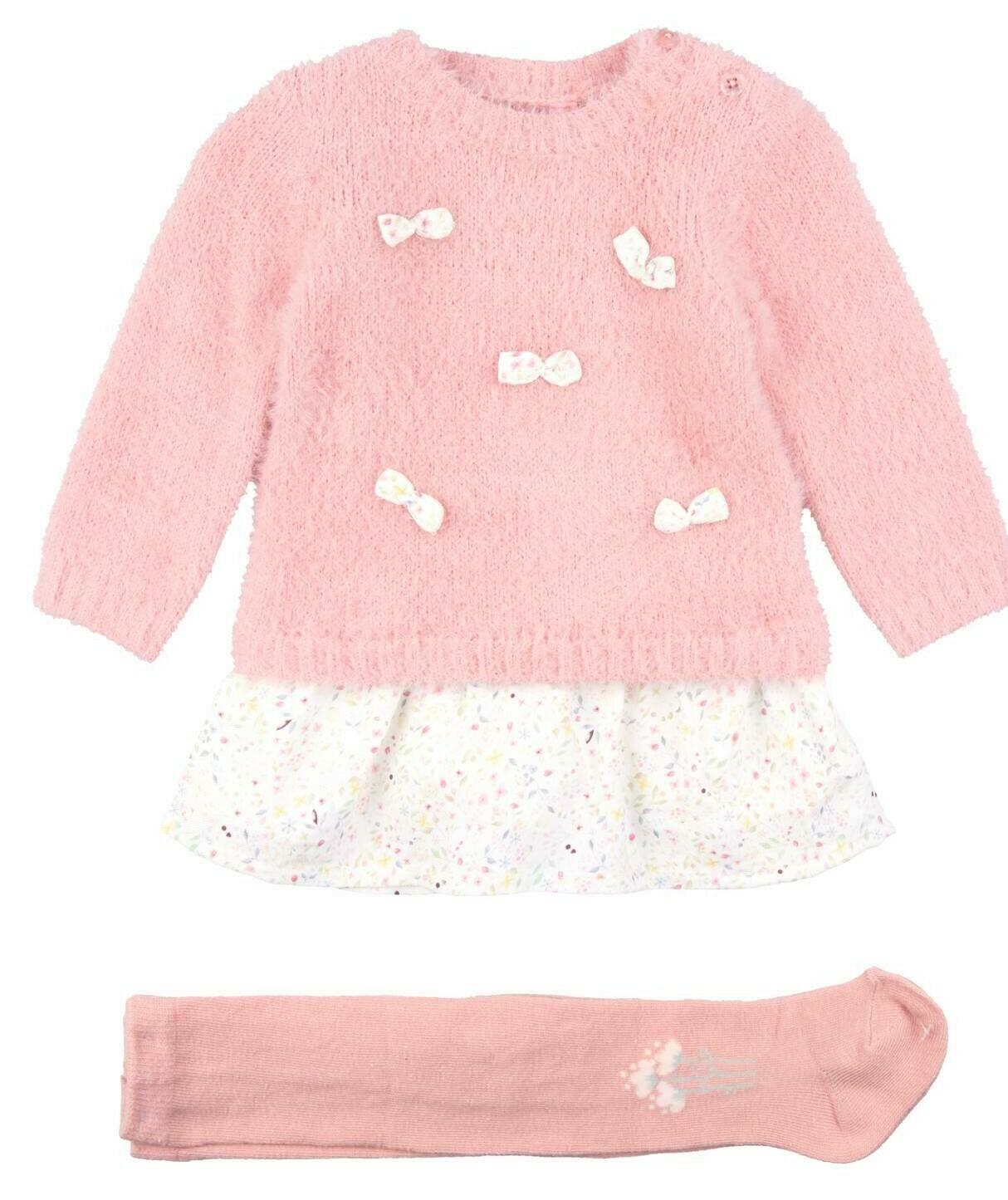 Losan Dress Set w/tights Pink 8017
