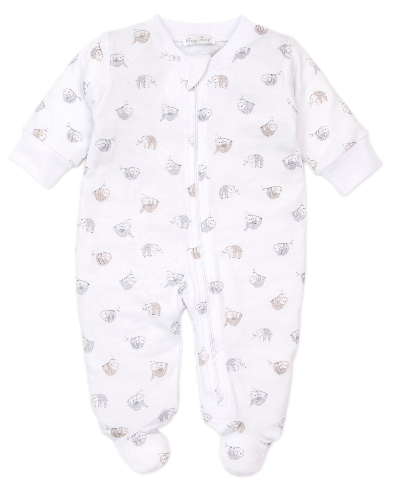 Kissy Kissy Swinging Sloths Footie w/zip 4732N