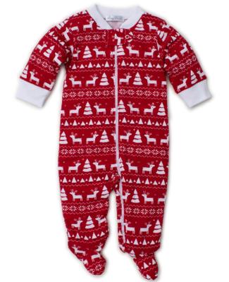 Kissy Kissy Christmas PJ's Footie w/zip 2354N
